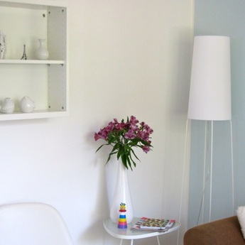 Lampadaire slimsophie blanc h176cm fraumaier normal