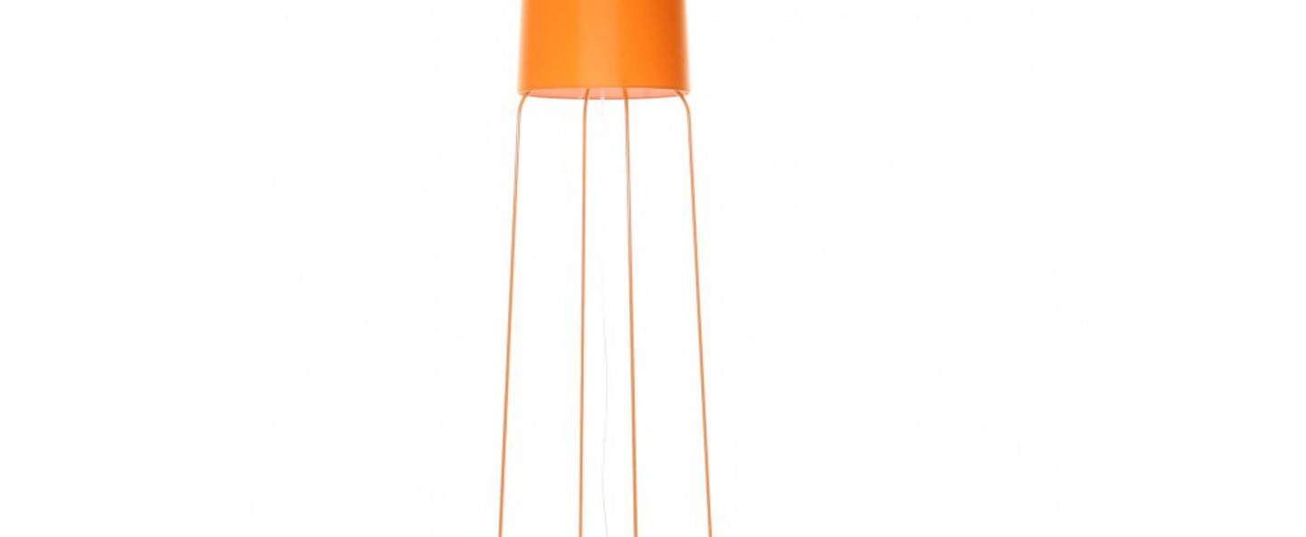 Lampadaire slimsophie orange dimmable h176cm fraumaier normal