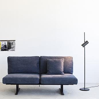 Lampadaire sofisticato nr 15 bleu acier o23cm h149cm serax normal