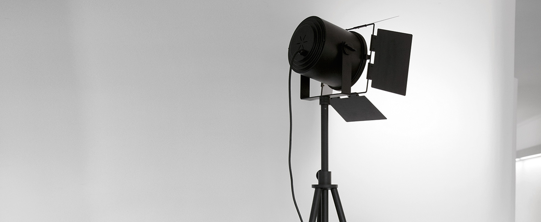 Lampadaire spotto noir h240cm martinelli luce normal