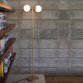 Lampadaire stem 132 laiton l35cm h132cm sklo studio normal