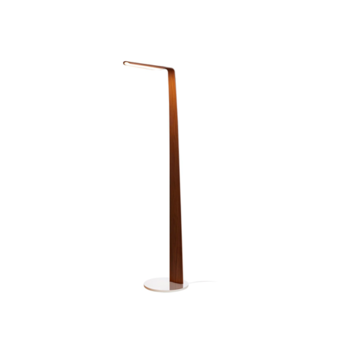 Lampadaire swan noyer led l35cm h135cm tunto normal