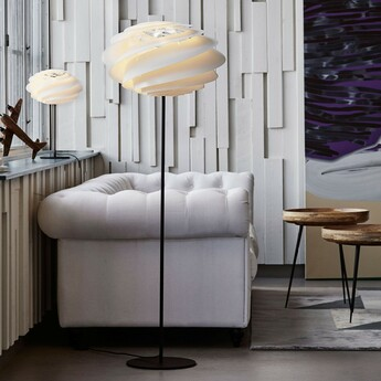 Lampadaire swirl blanc o50cm h140cm le klint normal