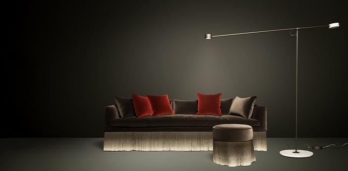 Lampadaire t lamp marron et marbre blanc led 2700k 1150lm l198 7cm h184 8cm moooi normal