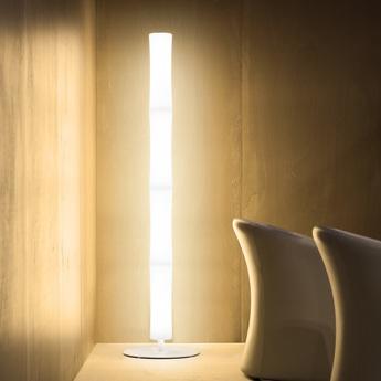 Lampadaire take plus led blanc base blanche h178cm lumen center italia normal
