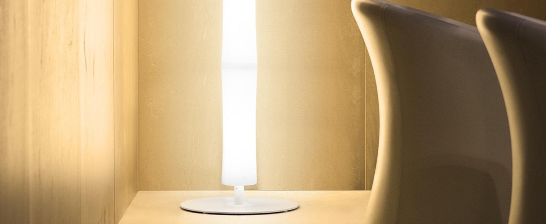 Lampadaire take plus led blanc base blanche h220cm lumen center italia normal