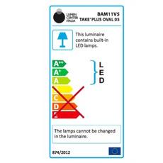 Take plus oval villa tosca lumen center italia bam11v5106 luminaire lighting design signed 23193 thumb