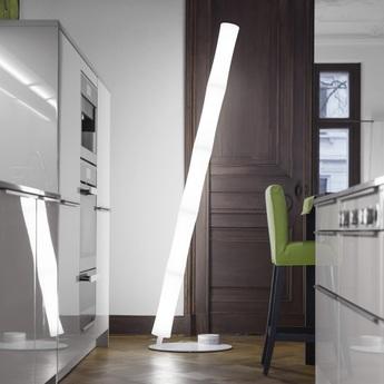 Lampadaire take plus oval led blanc base blanche h212cm lumen center italia normal