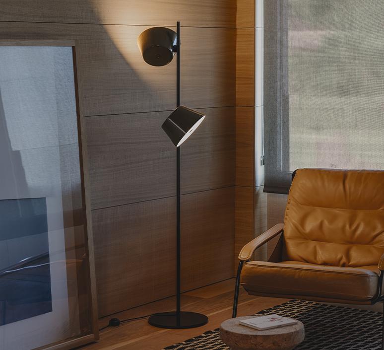 Tam tam p2 fabien dumas lampadaire floor light  marset a633 215 2x a622 011 47  design signed nedgis 122983 product