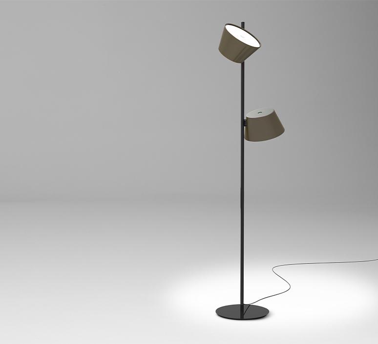 Tam tam p2 fabien dumas lampadaire floor light  marset a633 215 2x a622 011 47  design signed nedgis 122984 product