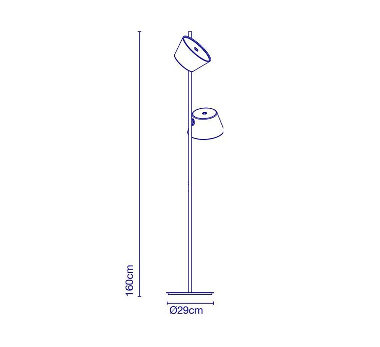Tam tam p2 fabien dumas lampadaire floor light  marset a633 215 2x a622 011 47  design signed nedgis 122986 product