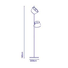 Tam tam p2 fabien dumas lampadaire floor light  marset a633 215 2x a622 011 47  design signed nedgis 122986 thumb