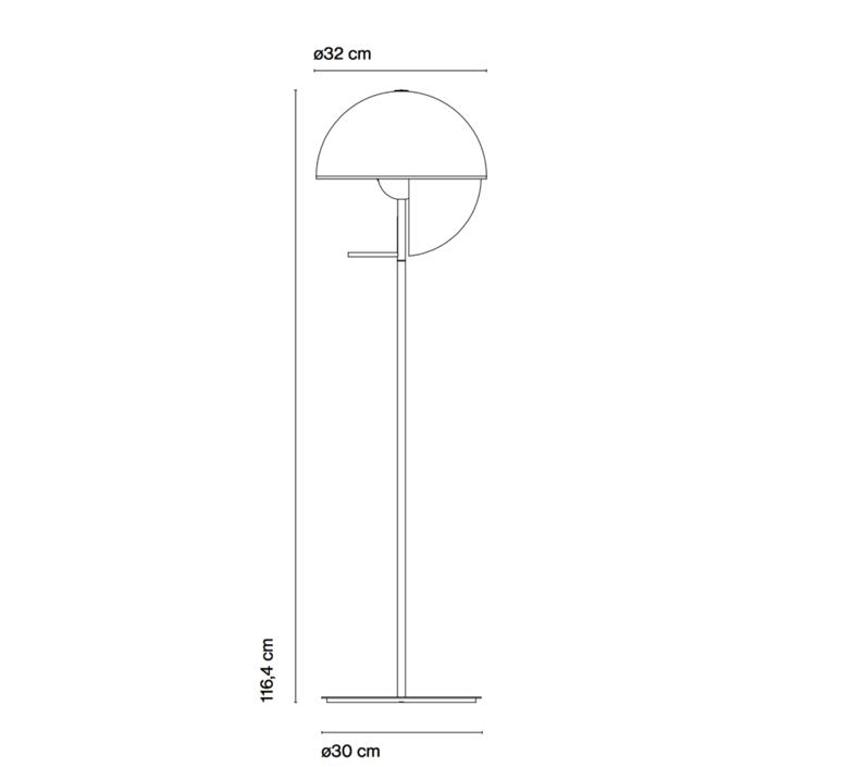 Theia p mathias hahn lampadaire floor light  marset a672 003   design signed 36626 product