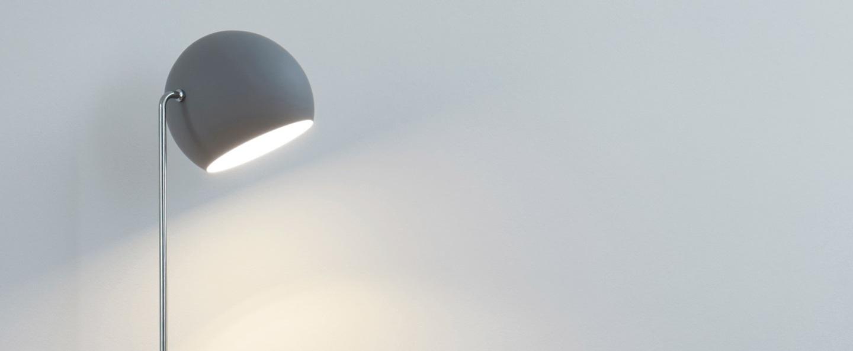 Lampadaire tilt globe gris o23cm h129cm nyta normal