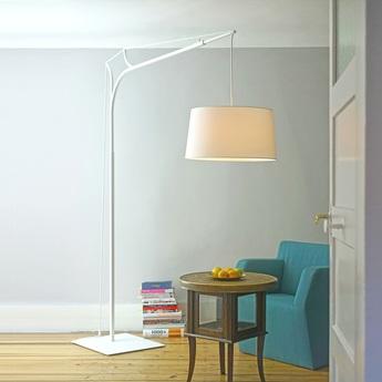 Lampadaire tina blanc h220cm fraumaier normal