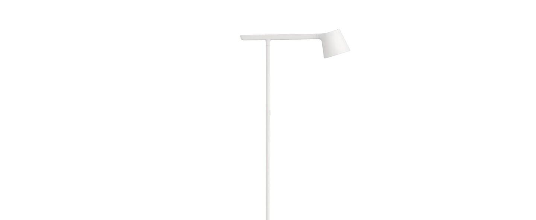 Lampadaire tip blanc led 2700k 330lm l20cm h110 8cm muuto normal
