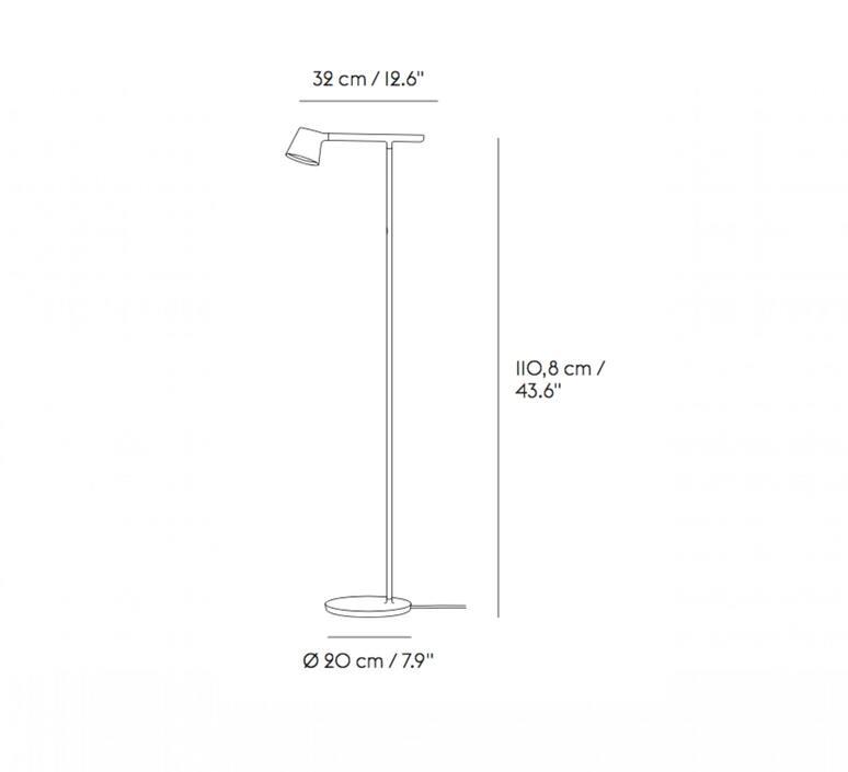 Tip jens fager lampadaire floor light  muuto 22317  design signed nedgis 94173 product