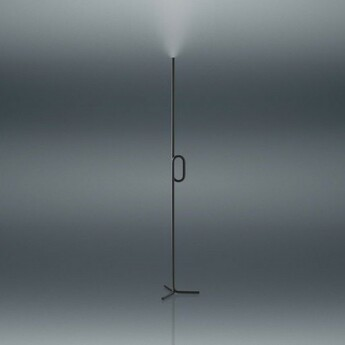Lampadaire tobia noir touch dimmer led 2700k 2000lm o17cm h175cm foscarini normal