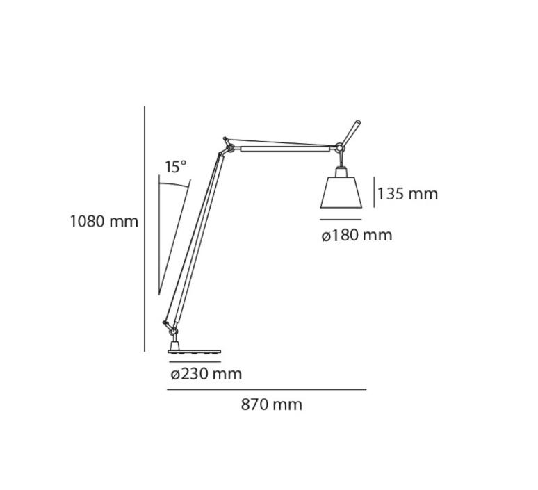 Tolomeo lettura basculante michele de lucchi lampadaire floor light  artemide a014600 a014900  design signed 33786 product
