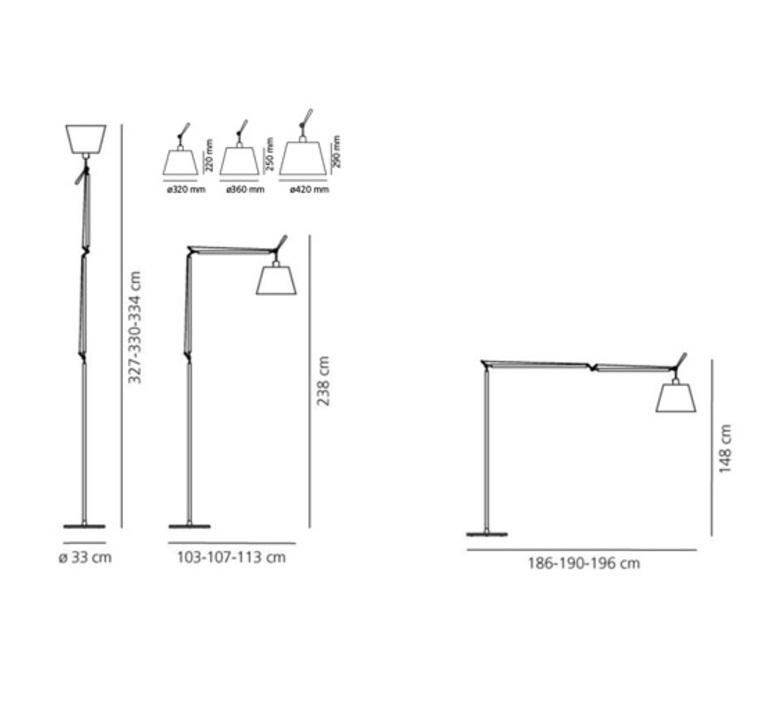 Tolomeo mega terra michele de lucchi lampadaire floor light  artemide 0778010a 0779010a 0780030a  design signed 51165 product