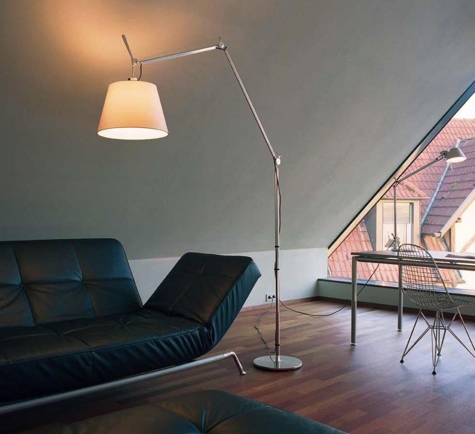 lampadaire tolomeo mega terra cru dimmable led h334cm. Black Bedroom Furniture Sets. Home Design Ideas