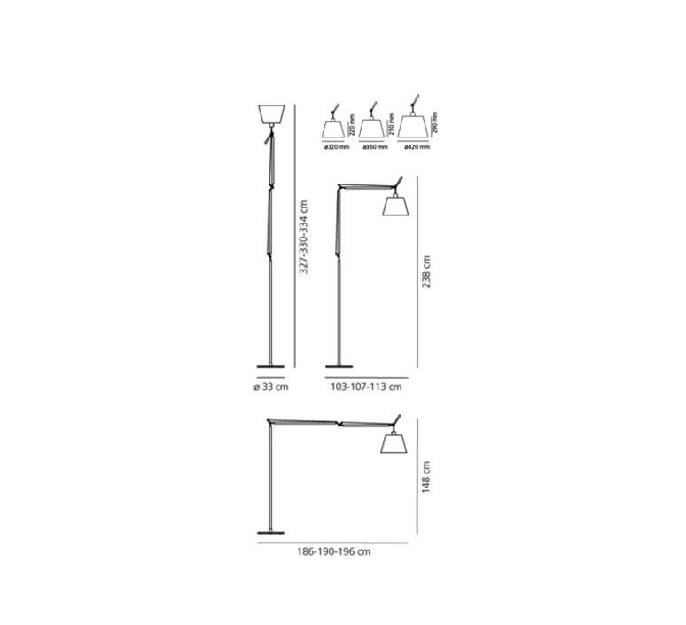 Tolomeo mega terra michele de lucchi lampadaire floor light  artemide 0762010a 0763010a 0781010a  design signed 33840 product