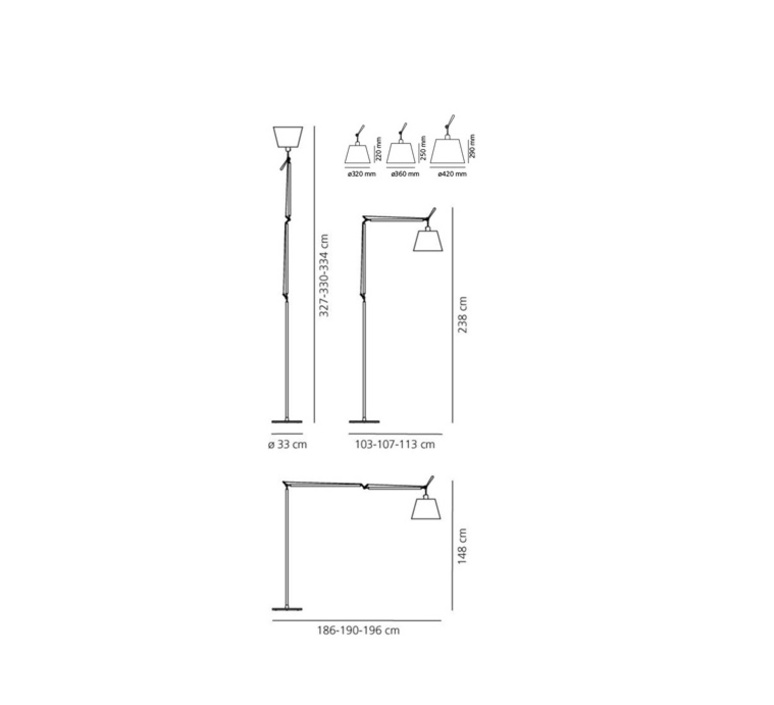 Tolomeo mega terra michele de lucchi lampadaire floor light  artemide 0763030a 0772030a 0761030a  design signed 34242 product
