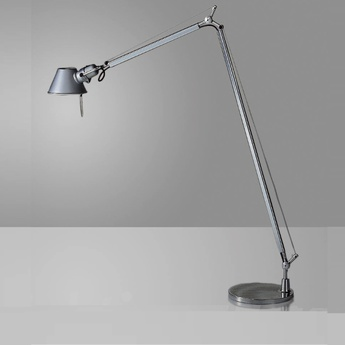 Lampadaire tolomeo reading floor led aluminium dimmable h167cm o23cm artemide normal