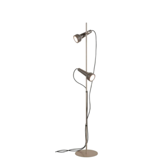 Lampadaire torcia gris fonce led l26cm h150cm karman normal
