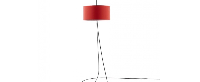 Lampadaire totora rouge o45cm h240cm carpyen normal