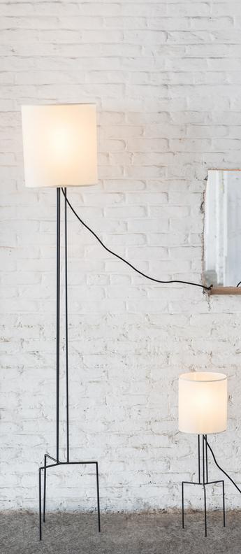 Lampadaire tria l blanc noir o30cm h183cm serax normal