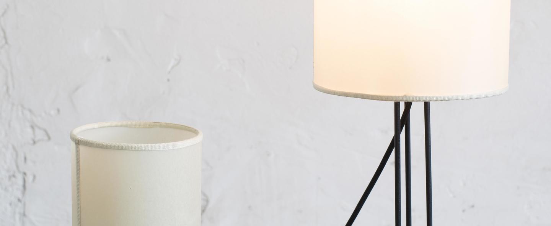 Lampadaire tria m blanc noir o20cm h66cm serax normal