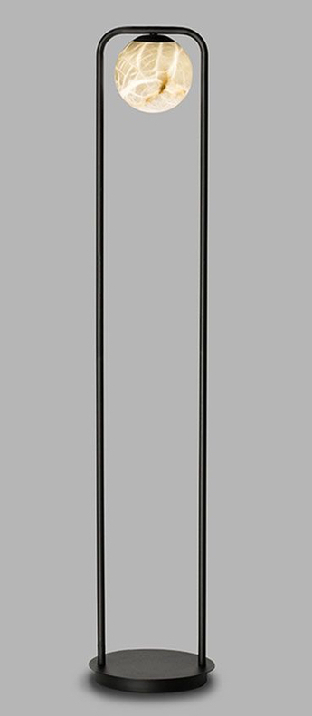 Lampadaire tribeca noir led 2700k 270lm o18cm h108cm alma light normal