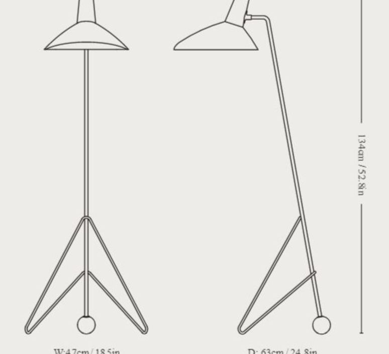 Tripod hm8 hvidt molgaard lampadaire floor light  andtradition 14080094  design signed nedgis 82438 product