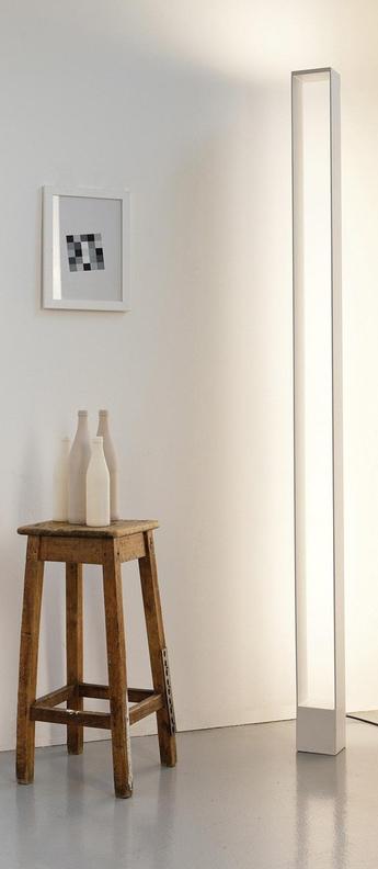 Lampadaire tru blanc led 2700k 4080lm 2660lm l12cm h185cm nemo lighting normal