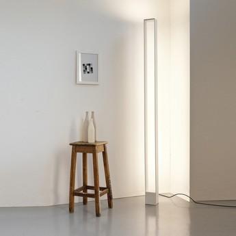 Lampadaire tru blanc led 3000k 4080lm 2660lm l12cm h185cm nemo lighting normal