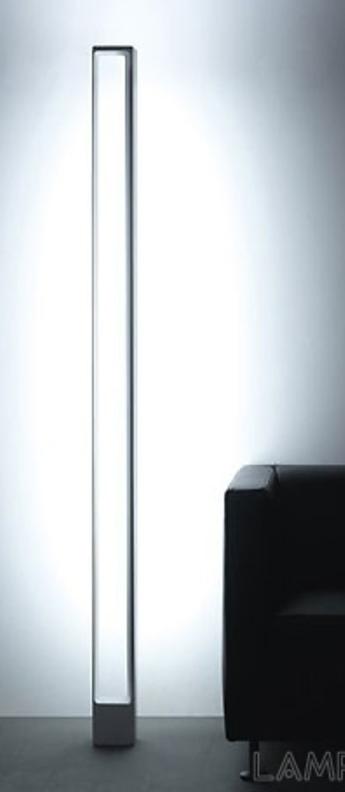Lampadaire tru gris led 2700k 4080lm 2660lm l12cm h185cm nemo lighting normal