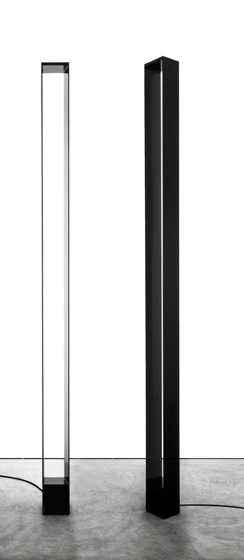 Lampadaire tru noir led 2700k 4080lm 2660lm l12cm h185cm nemo lighting normal