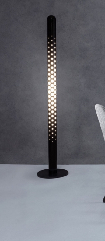 Lampadaire tube ip44 noir led l36cm h131cm tom dixon normal