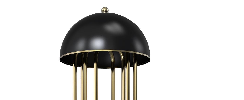 Lampadaire turner noir et or h170cm delightfull normal