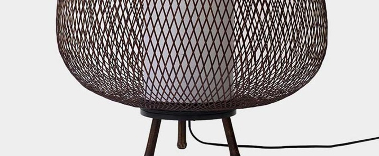 Lampadaire twiggy egg marron o60cm h70cm ay illuminate normal