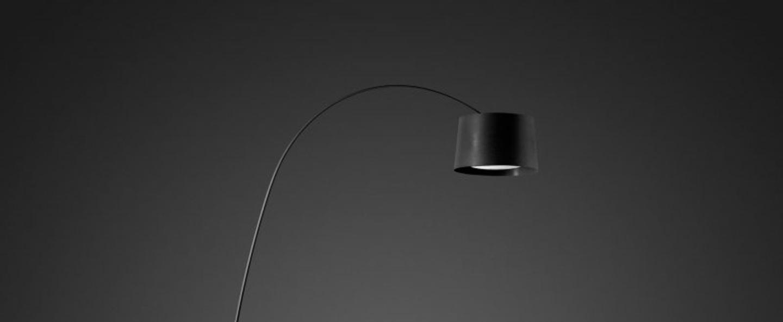 Lampadaire twiggy noir dimmable l60cm h195cm foscarini normal