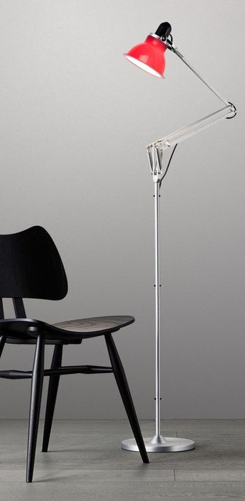 Lampadaire type 1228 rouge carmin h138cm anglepoise normal