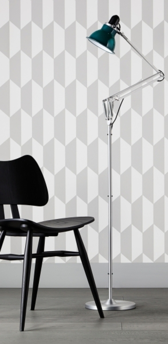 Lampadaire type 1228 vert fonce h138cm anglepoise normal
