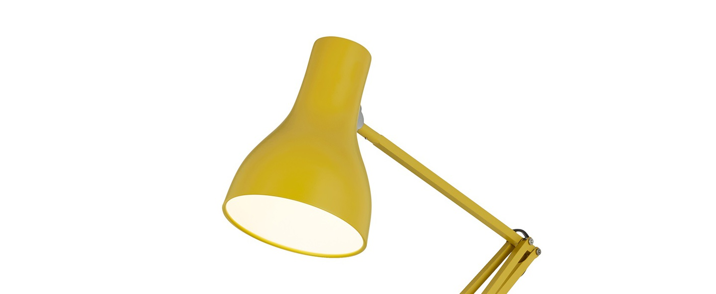 Lampadaire type 75 jaune moutarde mat margaret howell h154cm anglepoise normal