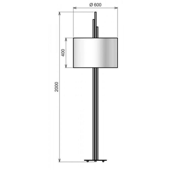 Upper  lampadaire floor light  cvl upper  design signed 53581 product