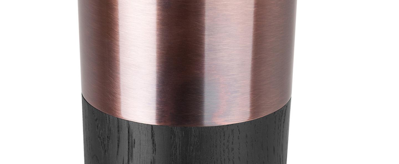 Lampadaire vendome chene noir led o12cm h179cm lumen center italia normal