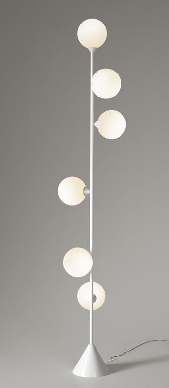 Lampadaire vertical 1 blanc o13 5cm h180cm atelier areti normal
