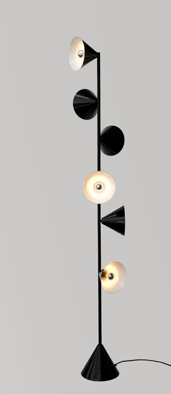 Lampadaire vertical 1 laiton o27 5cm h165cm atelier areti normal