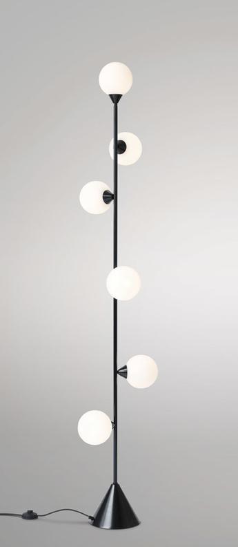Lampadaire vertical 1 noir o13 5cm h180cm atelier areti normal
